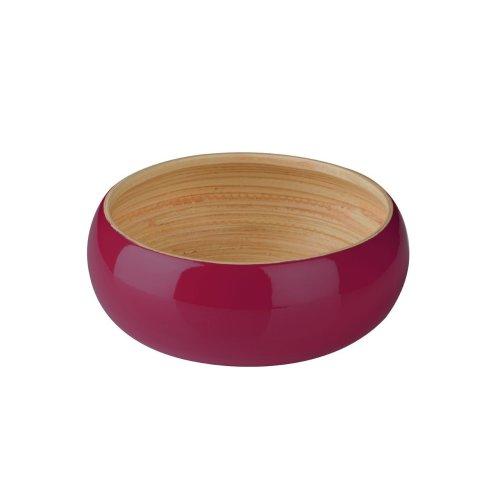 Kyoto Spun Bamboo Bowl, Raspberry