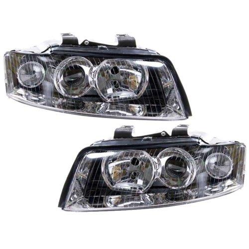 Audi A4 B6 2001-2004 Headlights Headlamps 1 Pair O/s & N/s
