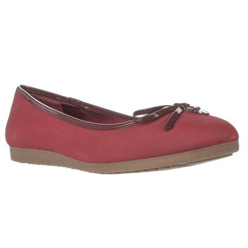 GB35 Odeysa Ballet Flats, Sailor Red, 6.5 UK