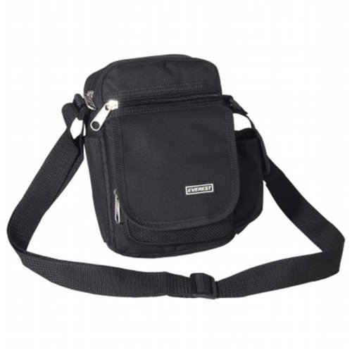 Everest Trading 054-BK 8.5 quot  Utility Bag with Three Zippered Pockets -  Black 10afbfa06