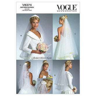 Bridal Veils-One Size Only -*SEWING PATTERN*