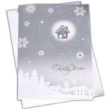 Christmas Cards Greeting Cards Christmas Gift Xmas Cards (4 Cards and Envelopes), Silver # 12