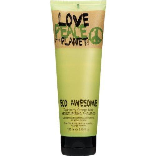 TIGI Love Peace & The Planet Eco Awesome Cranberry Orange Mint Moisturizing Shampoo 8.45 oz