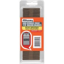 Allway Tools 0.009-Inch Industrial Quality Single Edge Razor Blades, 100-Pack