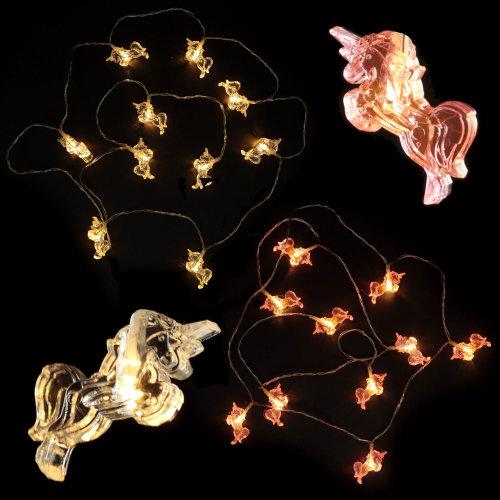 Unicorn LED Fairy Lights String 125cm Long