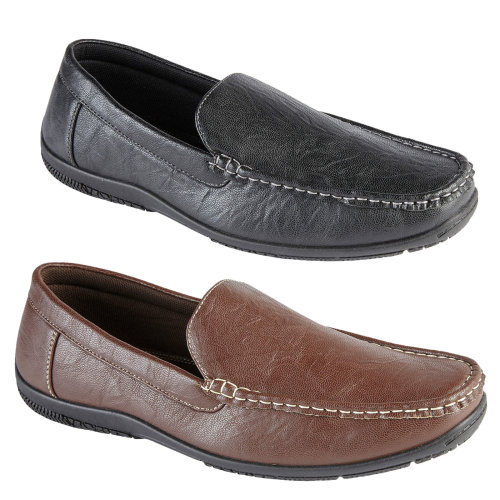 Lagos men's slip on loafer with stitching detail.
