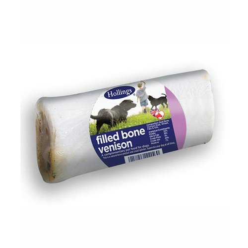 Hollings  Venison Filled Bone For Dogs Single x 20