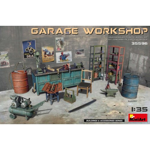 MIN35596 - Miniart 1:35 - Garage Workshop