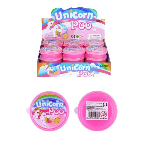 Unicorn Poo Pink Glitter Slime Putty Tub Squishy Stress Relief Toy Childrens Kids