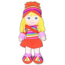 GirlznDollz Cameron Athletic Fun Baby Doll, Orange/Yellow