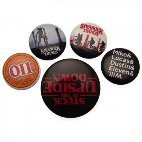 Stranger Things Button Badge Set (Pack of 5)