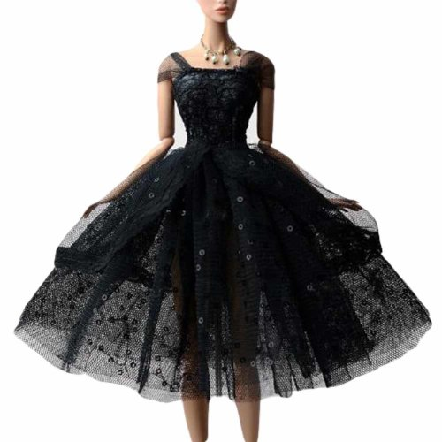 Doll Clothes Dress Up Evening Dress for 30 cm Doll, Black