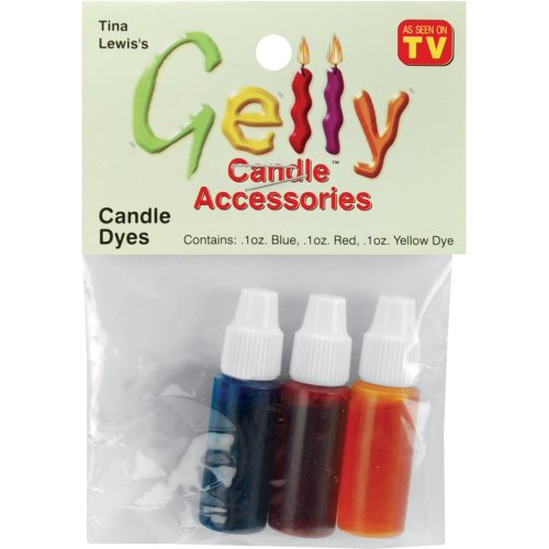 Gelly Candle Dye Assortment .1oz 3/Pkg-Red, Yellow & Blue