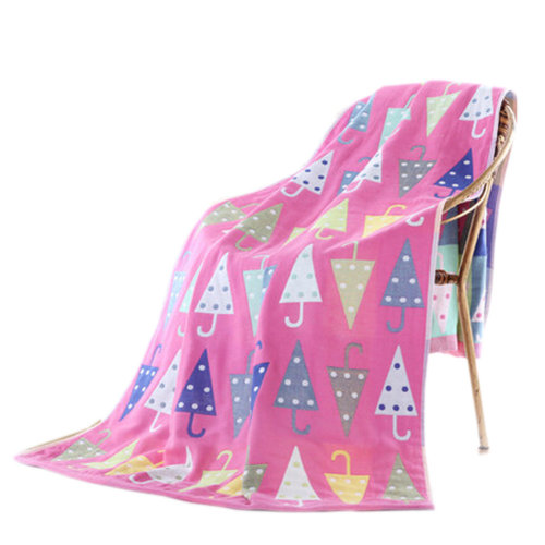 Large Soft Beach Towels 140*70cm, Umbrella Pattern