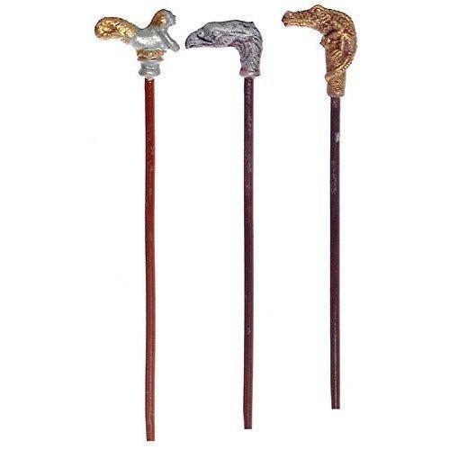 Dollhouse Miniature 1 12 Scale 3 Pc Walking Sticks SET T8406