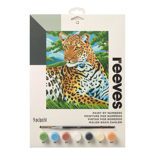 Reeves Painting By Numbers-Leopard