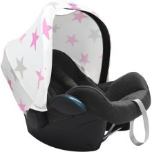 Dooky Dooky Hoody Replacement Infant Car Seat Hood Pink Stars