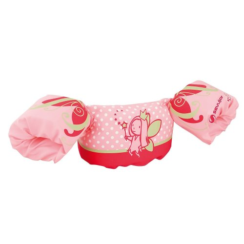 Sevylor Arm Bands Puddle Jumper Deluxe Fairy, Pink Toddler swimming aids, float discs, for 2-6 year old, 15-30kg, swim training aids, inflatable...