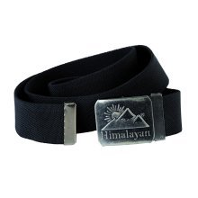 Himalayan H860BK Revolve Black Canvas Webbing Adjustable Belt Graphite Buckle