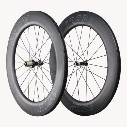 ICAN FL86 Carbon Clincher Road Bike Wheelset