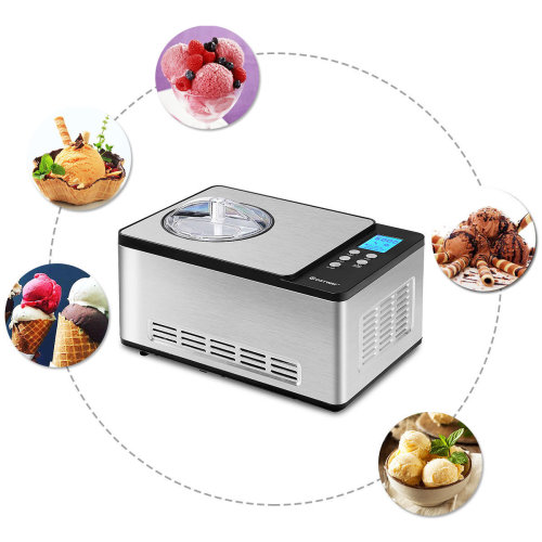 Automatic Ice Cream Maker 2L with LCD Timer Control