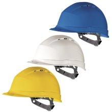 Delta Plus QUARTZ 1 Vented Safety Hard Hat Helmet (Various Colours)
