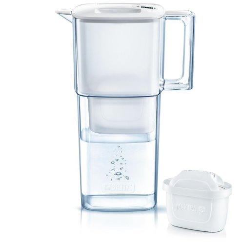 BRITA Liquelli MAXTRA+ Plus 2.2L Slim Water Filter Fridge Jug + Cartridge, White