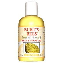 Burts Bees 100% Natural Lemon and Vitamin E Body and Bath Oil, 4 Ounces