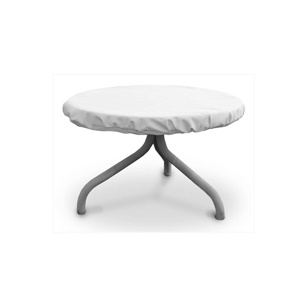 Koverroos 11542 Weathermax 26 In Round Table Top Cover White 30 Dia On