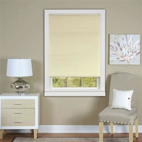 Honeycomb Cellular Alabaster Pleated Cordless Shade 23x64