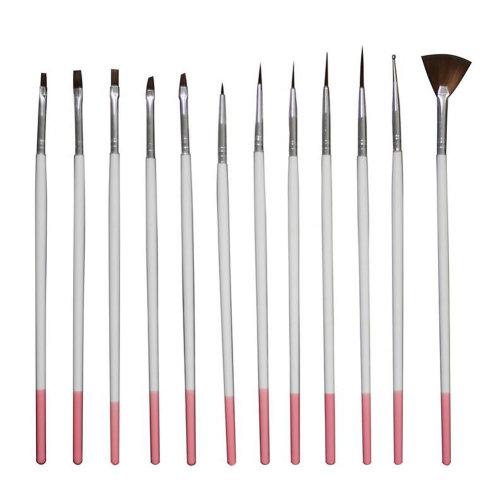 12 PCS Toe Nail Art Pens Nail Brush Nail Art Tools Nail Supply Art Nails Variety