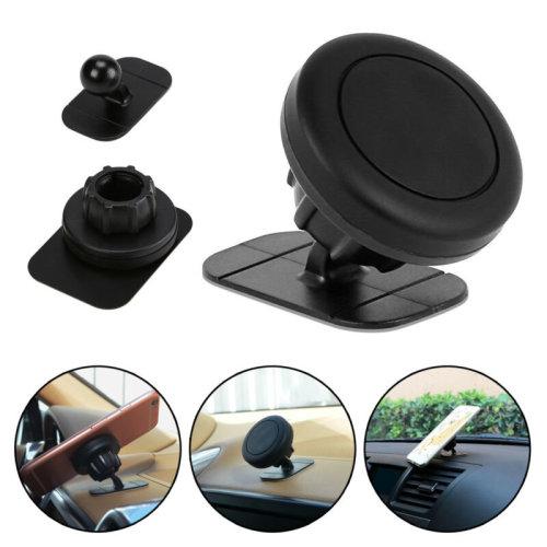 Car 360 Rotating Stick On Dashboard Magnetic Mount Cradle for Phone GPS Holder