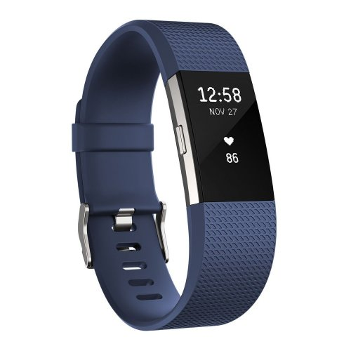 Fitbit Charge 2 Fitness Activity Tracker Heart Rate Monitor Wristband Small Blue