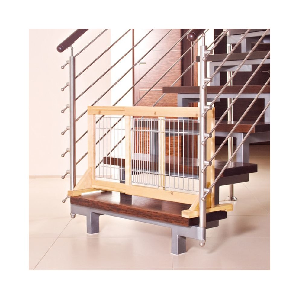 Dog Gate Barrier Indoor Wooden Mesh Puppies Small Dogs On