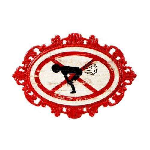 Decorative Wall Hanging Wall Accent Wall Door Hanging Plaques Ban Fart Sign