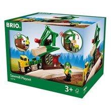 BRIO Lumber Sawmill Playset