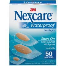 Nexcare Waterproof Bandages 50/Pkg-Assorted Sizes