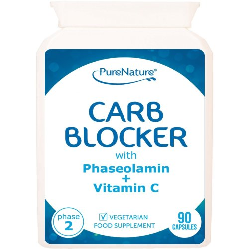90 Carb Blocker Capsules with White Kidney Bean Extract & Phaseolamin Phase 2 High Strength Carb Controller & Starch Blocker Clinically Proven...