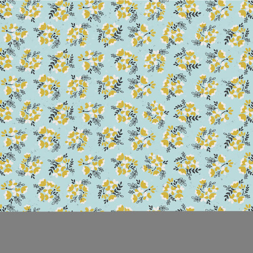 """American Crafts Floral Single-Sided Cardstock 12""""X12""""-Blue Floral"""