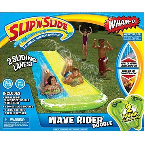 Whamo Slip N Slide Wave Rider Double With 2 Slide Boogies
