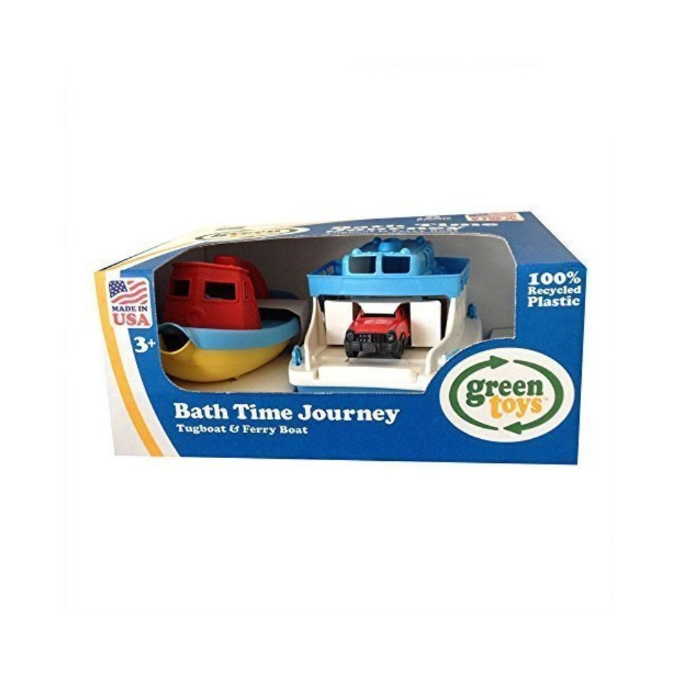 Green Toys Bath Time Journey Tugboat & Ferry Boat on OnBuy