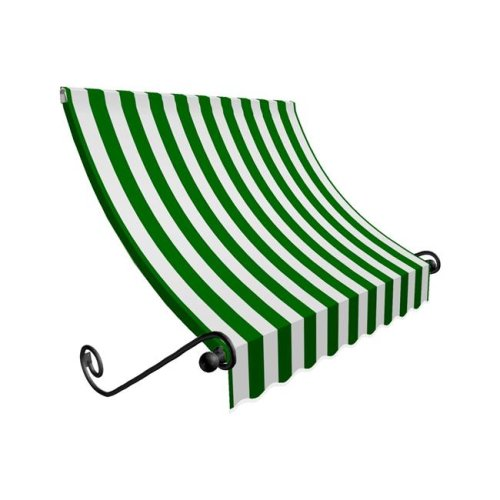 Awntech CH33-US-5FW 5.38 ft. Charleston Window & Entry Awning, Forest Green & White - 44 x 36 in.