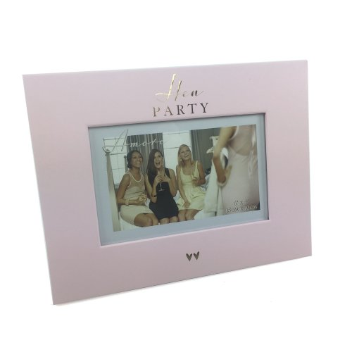 "Amore Pink & Gold Paperwrap Photo Frame 6"" x 4"" Hen Party WG700"