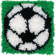 "Caron Wonderart Latch Hook Kit 8""X8""-Soccer"