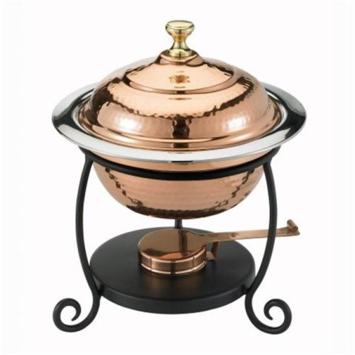 Old Dutch 890 Round Decor Copper Chafing Dish