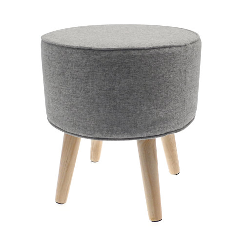 Country Club Oslo Foot Stool with Wooden Legs, Stone