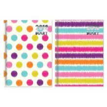 Tallon 2018 Pocket Diaries Pack - Wtv Spots Stripes -  2017 week view spots design diary hardback pocket fuzzy stripes small size strips patterned