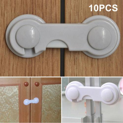 10X Adhesive Baby Child Door Pet Safety Locks Cupboard Latch Drawer Fridge