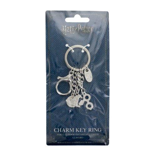 Harry Potter Charm Key Ring Hogwarts 3 Metal Charms Kids Adult Bracelet