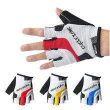 Mens Women Half Finger Breathable Sweat Bicycle Bike Gloves Anti-Slip Damping Outdoor Gloves